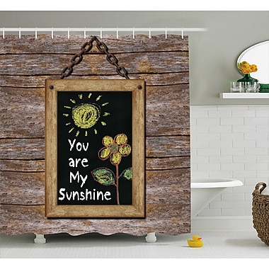 East Urban Home Hand Drawn Sun Quotes Decor Shower Curtain; 69'' H x 84'' W