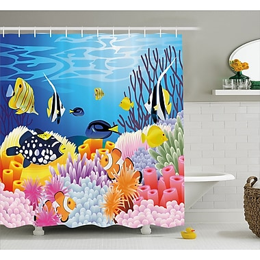 East Urban Home Water Life Decor Shower Curtain; 69'' H x 70'' W
