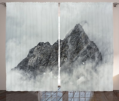 East Urban Home Mountain Landscape Decor Nature Room Darkening Rod Pocket Curtain Panels (Set of 2) WYF078281524540