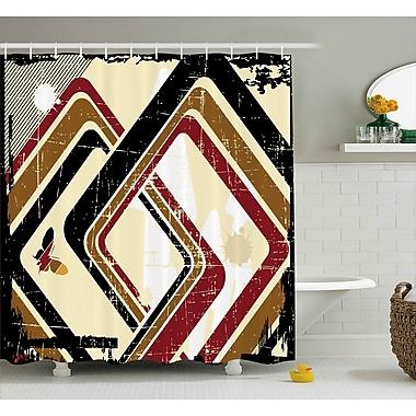 East Urban Home Rhombus Shower Curtain; 69'' H x 75'' W