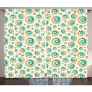 East Urban Home Spiral Circle Room Darkening Rod Pocket Curtain Panels (Set of 2); 54'' x 90''