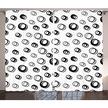 East Urban Home Abstract Round Room Darkening Rod Pocket Curtain Panels (Set of 2); 54'' x 84''