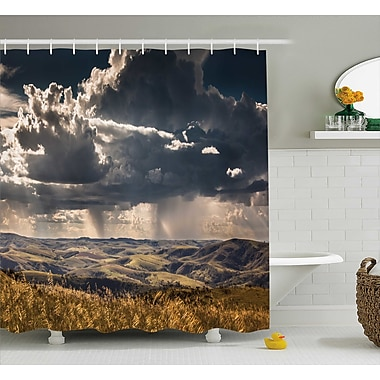 East Urban Home Fall Tree Puffy Clouds Decor Shower Curtain; 69'' H x 70'' W