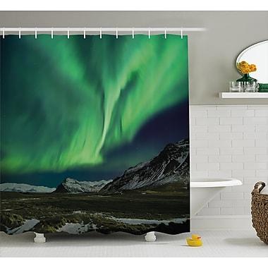 East Urban Home Aurora Polaris Shower Curtain; 69'' H x 84'' W