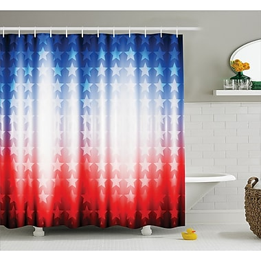 East Urban Home Background w/ Stars Decor Shower Curtain; 69'' H x 75'' W