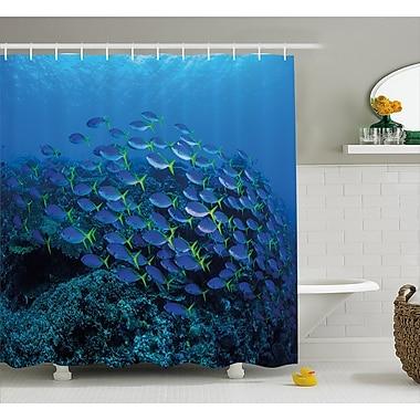 East Urban Home Shoal of Fish Decor Shower Curtain; 69'' H x 84'' W