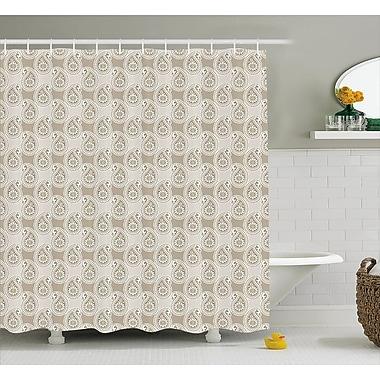 East Urban Home Floral Teardrop Decor Shower Curtain; 69'' H x 84'' W
