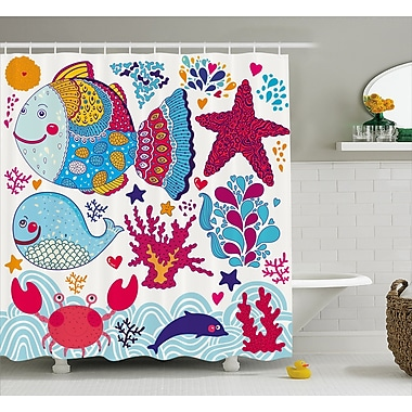 East Urban Home Marine Decor Shower Curtain; 69'' H x 70'' W