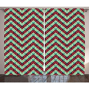 East Urban Home Chevron and Spots Room Darkening Rod Pocket Curtain Panels (Set of 2); 54'' x 84''