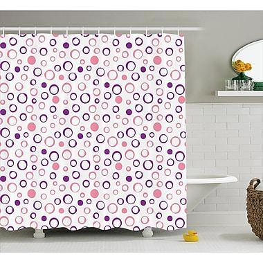 East Urban Home Circular Figure Spherical Dots Decor Shower Curtain; 69'' H x 84'' W