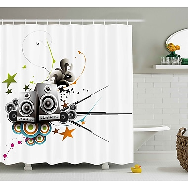 East Urban Home Music Set Modern Decor Shower Curtain; 69'' H x 75'' W