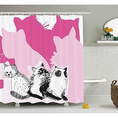 East Urban Home Kittens Shower Curtain; 69'' H x 75'' W
