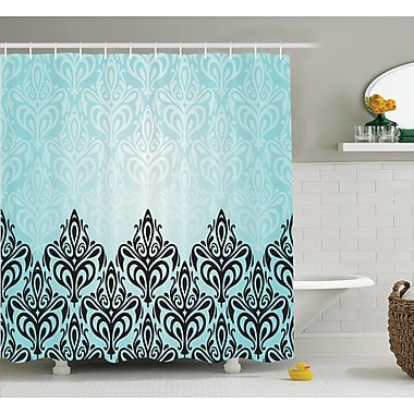 East Urban Home Symmetric Lines Shower Curtain; 69'' H x 70'' W