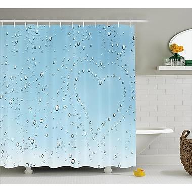 East Urban Home Heart Shape Rain Droplets Decor Shower Curtain; 69'' H x 75'' W