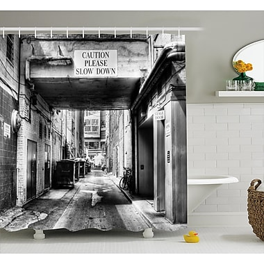 East Urban Home Slow Down Shower Curtain; 69'' H x 70'' W