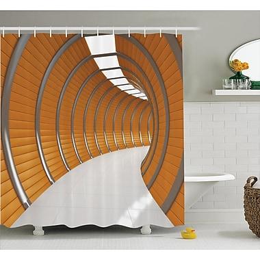 East Urban Home Tunnel Decor Shower Curtain; 69'' H x 70'' W