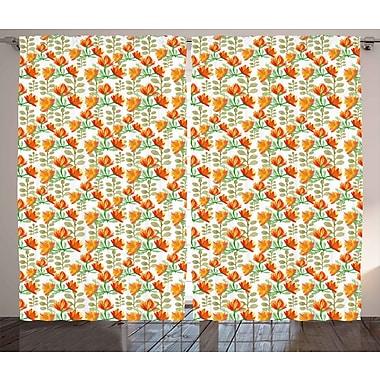 East Urban Home Blossom Room Darkening Rod Pocket Curtain Panels (Set of 2); 54'' x 90''