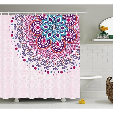 East Urban Home Indian Ornamental Shower Curtain; 69'' H x 84'' W