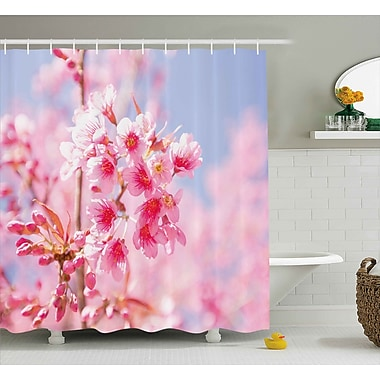 East Urban Home Sakura Blossom Shower Curtain; 69'' H x 84'' W