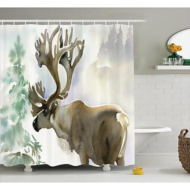 East Urban Home Moose Shower Curtain; 69'' H x 75'' W