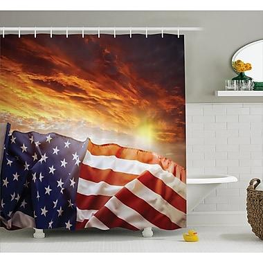East Urban Home Flag and Sky Decor Shower Curtain; 69'' H x 84'' W