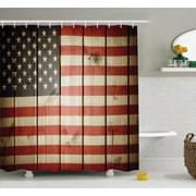 East Urban Home Vertical Striped Flag Decor Shower Curtain; 69'' H x 70'' W