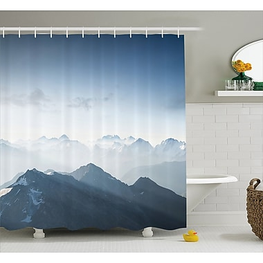 East Urban Home Fog Morning in Rock Mountain Decor Shower Curtain; 69'' H x 70'' W