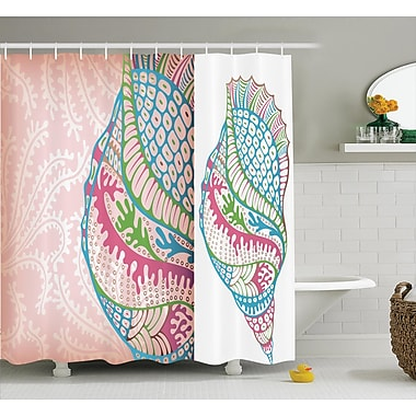 East Urban Home Colorful Seashells Shower Curtain; 69'' H x 75'' W
