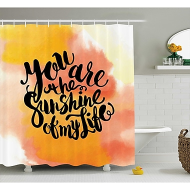 East Urban Home Hazy Cloud Quotes Decor Shower Curtain; 69'' H x 84'' W