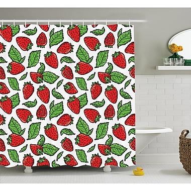 East Urban Home Juicy Strawberries Shower Curtain; 69'' H x 70'' W