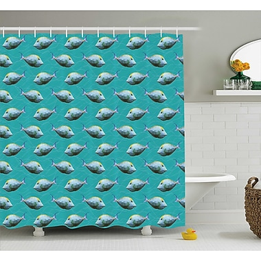 East Urban Home Unicornfish Decor Shower Curtain; 69'' H x 70'' W