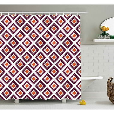 East Urban Home Triangles Squares Mosaic Shower Curtain; 69'' H x 70'' W