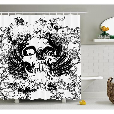 East Urban Home Skull Wave Shower Curtain; 69'' H x 75'' W
