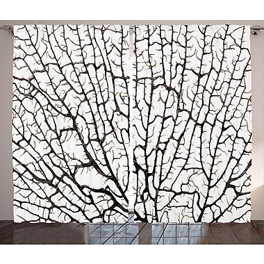 East Urban Home Old Forest D cor Nature / Floral Room Darkening Rod Pocket Curtain Panels (Set of 2)