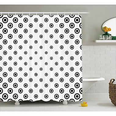 East Urban Home Round Shaped Dots Decor Shower Curtain; 69'' H x 84'' W