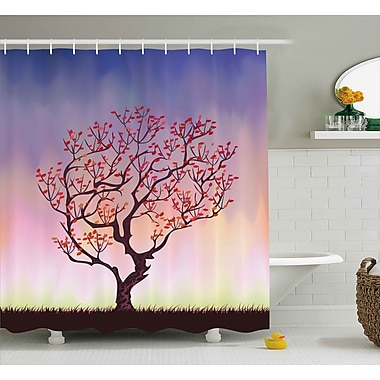 East Urban Home Sunset Rise Shower Curtain; 69'' H x 70'' W