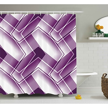 East Urban Home Curved Lined Shower Curtain; 69'' H x 75'' W