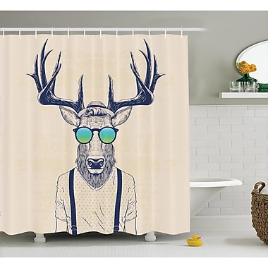 East Urban Home Cool Hipster Fashion Shower Curtain; 69'' H x 70'' W