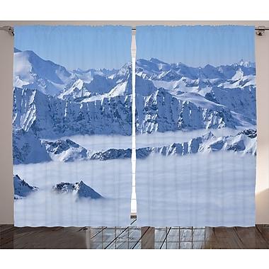 East Urban Home Snowfall Decor Graphic Print Room Darkening Rod Pocket Curtain Panels (Set of 2)