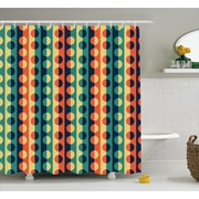 East Urban Home Striped Half-pattern Ring Decor Shower Curtain; 69'' H x 84'' W