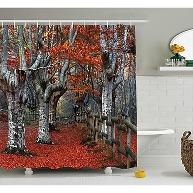 East Urban Home Beech Forest Decor Shower Curtain; 69'' H x 70'' W
