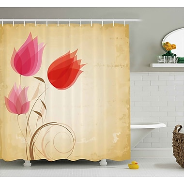 East Urban Home Tulips Shower Curtain; 69'' H x 70'' W
