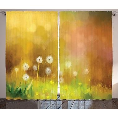 East Urban Home Dandelion Room Darkening Rod Pocket Curtain Panels (Set of 2); 54'' x 84''