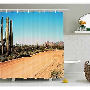 East Urban Home Earth Path Decor Shower Curtain; 69'' H x 84'' W