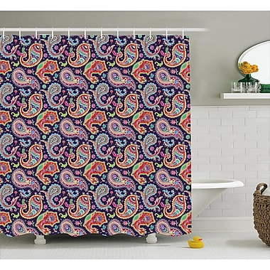 Harriet Bee Accrington Geometrical and Floral Decor Shower Curtain; 69'' H x 70'' W