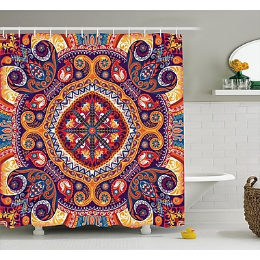 East Urban Home Arabic Ornamental Decor Shower Curtain; 69'' H x 84'' W