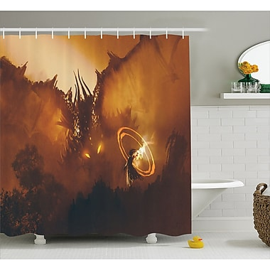 East Urban Home Dragon Magician Decor Shower Curtain; 69'' H x 70'' W