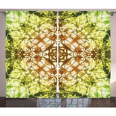 Round Creepy Figure D cor Ikat Sateen Room Darkening Rod Pocket Curtain Panels (Set of 2)