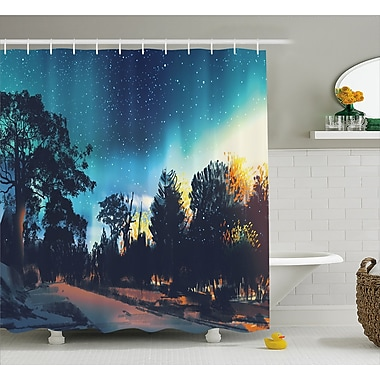 East Urban Home Enchanted Night Decor Shower Curtain; 69'' H x 75'' W