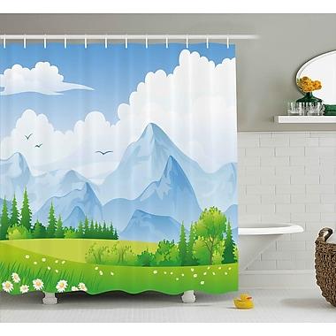 East Urban Home Daisy Flower Field Shower Curtain; 69'' H x 84'' W